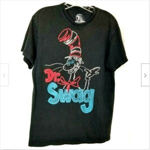 Dr Seuss womens tee shirt Cat in the Hat Dr Swag